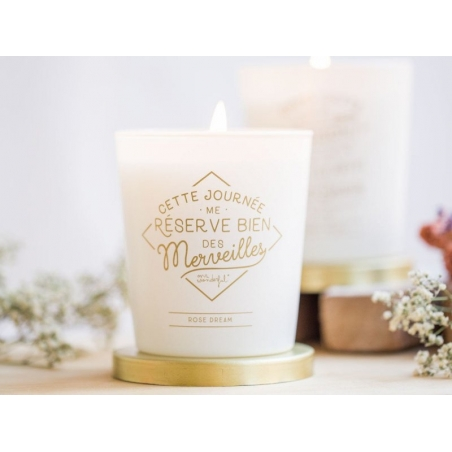 Rose-scented candle