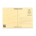 Carte postale en bois à personnaliser