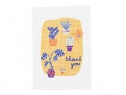 """Carte """"thank you"""" - fluo"""
