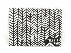 "Card - ""Thank you"" - black and white"