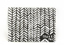 Karte - Thank you - schwarz-weiß