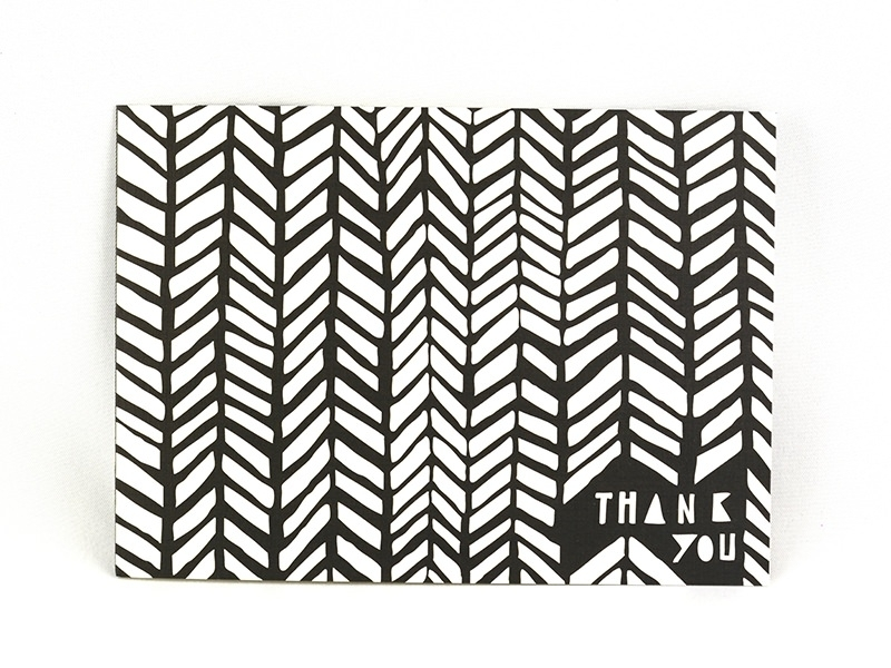 "Carte ""thank you"" - noir et blanc Yellow Owl Workshop - 1"