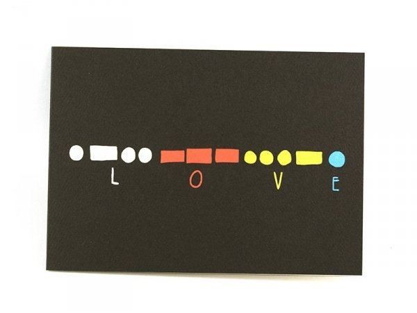 "Carte ""love"" - morse Yellow Owl Workshop - 1"