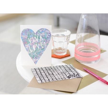 """Acheter Carte """"viva love"""" - 5,50€ en ligne sur La Petite Epicerie - 100% Loisirs créatifs"""