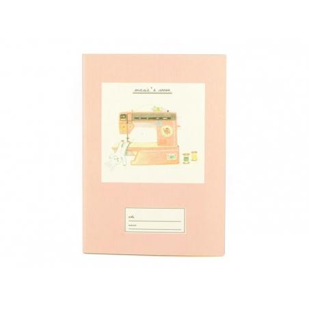 Petit carnet- rose machine à coudre