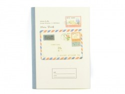 Petit carnet- bleu carte postale