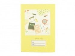 Petit carnet- jaune table