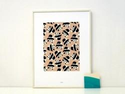 Affiche A4 - pandas
