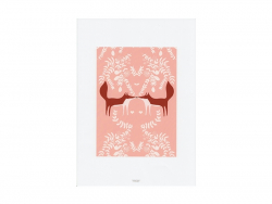 A4 poster - foxes in love