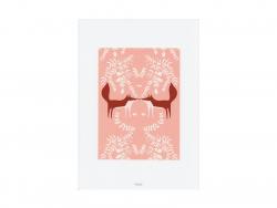 Poster im A4-Format - verliebte Füchse