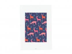 Poster im A4-Format - Hirsche