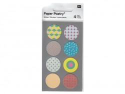 Stickers - kraft paper circles in various colours