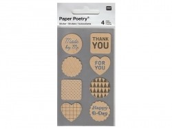 Stickers - kraft paper mix