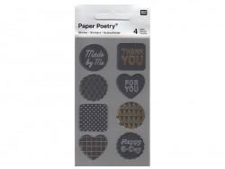 Stickers - black metallic mix