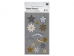 Stickers - metallic stars