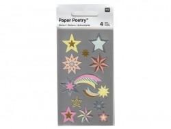 Stickers - étoiles pastels métallisées