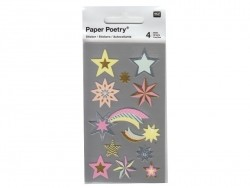 Stickers - pastel-coloured metallic stars