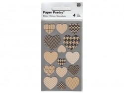 Acheter Stickers - coeurs kraft - 3,05€ en ligne sur La Petite Epicerie - 100% Loisirs créatifs