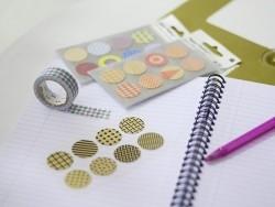 Stickers - kraft ronds multicolore