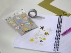 Stickers - pastel-coloured metallic stars