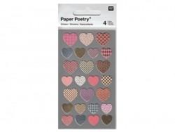 Acheter Stickers - coeurs métallisés - 3,05€ en ligne sur La Petite Epicerie - 100% Loisirs créatifs