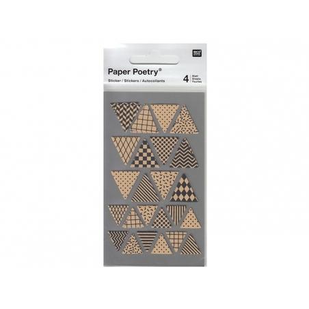 Stickers - triangles kraft