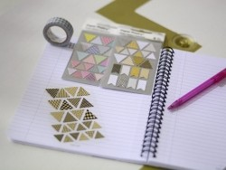Stickers - triangles kraft