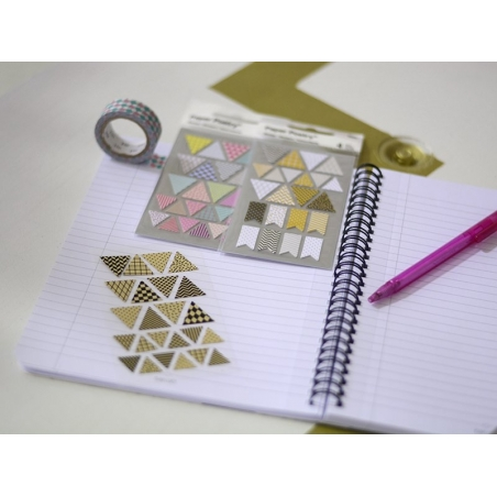 Stickers - kraft paper triangles