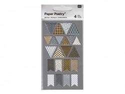 Stickers - metallic pennants