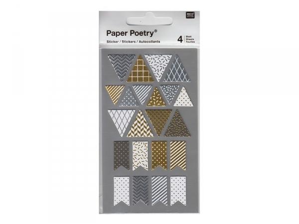 Acheter Stickers - fanions métallisés - 3,05€ en ligne sur La Petite Epicerie - 100% Loisirs créatifs