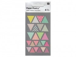 Stickers - pennants in various colours