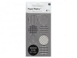 Stickers - ronds noirs et blancs washi Rico Design - 1
