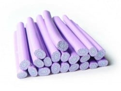 Millefiori cane - purple and with flowers