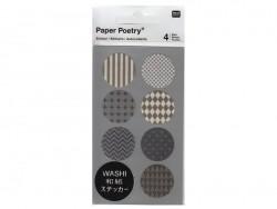Stickers - ronds gris et blancs washi Rico Design - 1