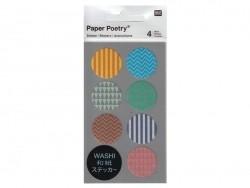 Stickers - ronds chevrons et géométriques multicolores washi