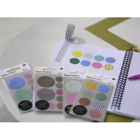 Acheter Stickers - ronds chevrons et géométriques dorés et argentés washi - 3,60€ en ligne sur La Petite Epicerie - 100% Loi...