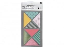Stickers - triangles géométriques multicolores washi Rico Design - 1