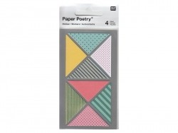 Stickers - washi tape triangles in different colours and with geometric patterns