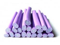 Cane millefiori - Fleur violette  - 3