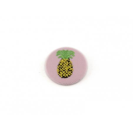 broche brodée - ananas