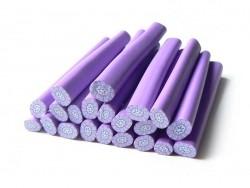 Cane millefiori - Fleur violette  - 4