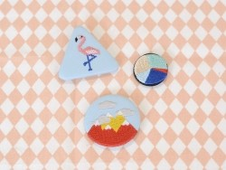 Embroidered brooch - mountain