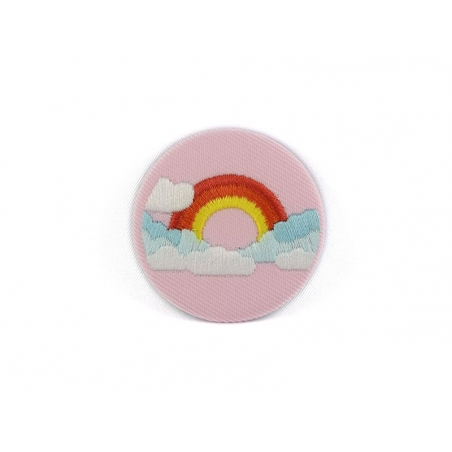 Embroidered brooch - rainbow