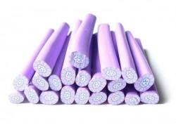 Cane millefiori - Fleur violette  - 5