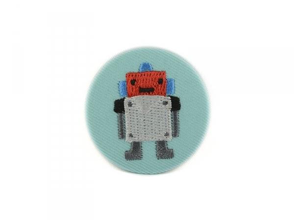 broche brodée - robot