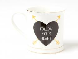 "Tasse mit Pfeilen - ""Follow your heart"""