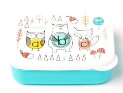 Boites rectangle hermétique / lunchbox - animaux abc
