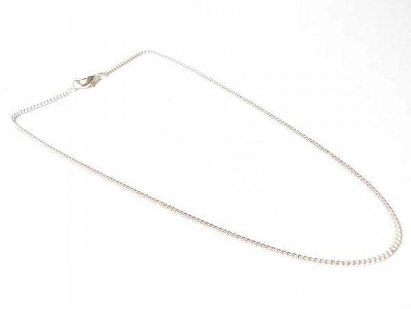 Collier ras de cou chaine goumette couleur argent - 39 cm  - 1
