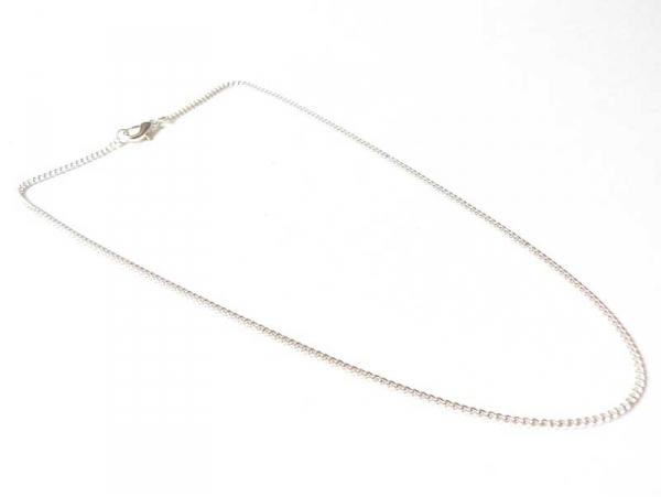Silver-coloured choker made of cable chain - 39 mm