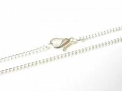 Collier ras de cou chaine goumette couleur argent - 39 cm